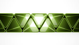 Green triangle elements Royalty Free Stock Image