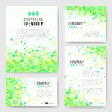 Green triangle Identity-2 Stock Photos