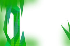 green triangle leaves abstract leaves Royalty Free Stock Photo