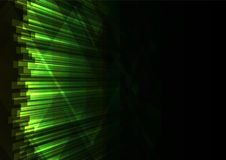 Green triangle and line bar  abstract background Stock Photo