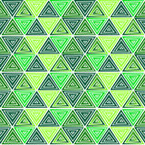 Green triangle pattern Royalty Free Stock Photo