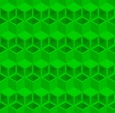 Abstract 3d cube pipe pattern background. Green triangle and rhombus pattern background, 3d isometric illustration pattern background Royalty Free Stock Photo
