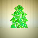 Green triangle tree cluster vector Stock Image