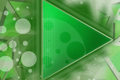 Green triangle with white circles, abstract background Royalty Free Stock Photos