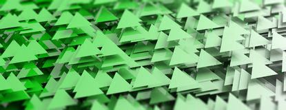 Green triangles abstract background. 3d illustration Royalty Free Stock Photo