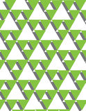 Green triangles. Active abstract subject with soft spatial ilusion royalty free illustration