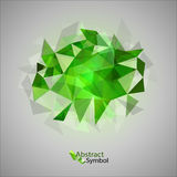 Green Triangles Stock Image