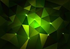 Green Triangles Dark Stock Photos