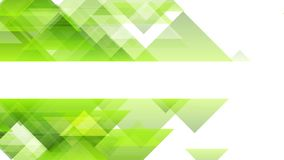 Green triangles tech abstract minimal geometric video animation
