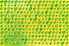 Green Triangles Texture on Yellow Royalty Free Stock Images