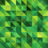 Green triangular vector grid pattern Royalty Free Stock Photo