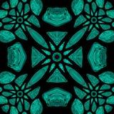 Green Tribal Kaleidoscope Royalty Free Stock Images