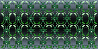 Green tribal pattern Royalty Free Stock Images