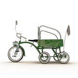 Green tricycle Royalty Free Stock Photos