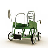Green tricycle Royalty Free Stock Images