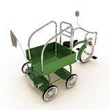 Green tricycle Stock Image