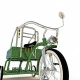 Green tricycle Royalty Free Stock Image