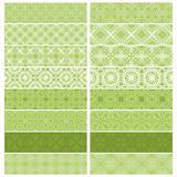 Green trim or border collection Stock Photo