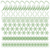 Green trim or border collection Stock Image
