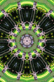 Green troll kaleidoscope stock photo