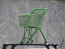 Green Trolley  Mounted on Car Rooftop Stock Images