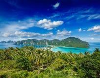 Green tropical island Stock Photos