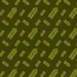 Green tropical leaves in a seamless pattern on a dark green background. Green leaves in a repeating seamless pattern for textile, fabric, backdrops and creative vector illustration