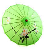 Green tropical parasol Royalty Free Stock Photos