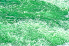 Green troubled water Stock Photography