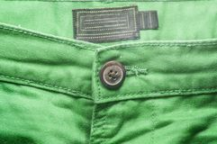 Green trouser front Stock Image