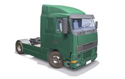Green Truck. 3D isolated white background Royalty Free Stock Photo