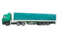 Green truck Stock Images