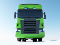 Green truck front view Stock Photography