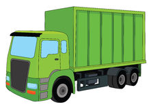Green truck Royalty Free Stock Image