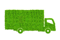 Green truck isolated on white background. Stock Photos