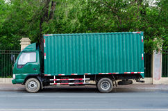 Green truck Royalty Free Stock Photography