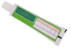 Green tube toothpaste (Clipping path) Stock Photography