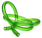 Green Tubing Stock Image