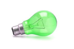 Green tungsten light bulb Stock Photos