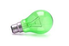 Green tungsten light bulb Stock Photos