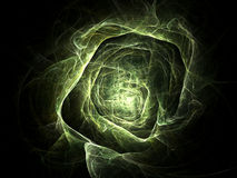 Green tunnel. In space vector illustration