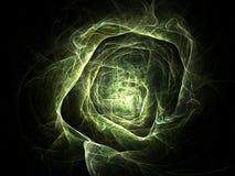 Green tunnel vector illustration
