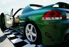 Green tunning car Stock Images
