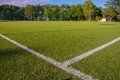Green turf of football stadium Stock Image