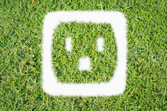 Green turf logo power outlet Stock Photos