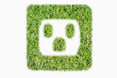 Green turf logo power outlet Royalty Free Stock Photos