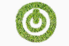 Green turf logo power switch on off Royalty Free Stock Photography