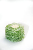 Green turkish delight on the white background Royalty Free Stock Photos