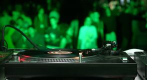 Green turntable Royalty Free Stock Image