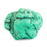 Green turquoise gemstone isolated on white Stock Images